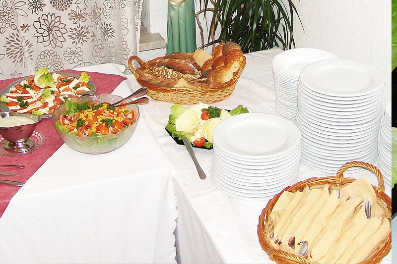 Ausschnitt des Abendbrot-Buffet im Alten Kaffeehaus