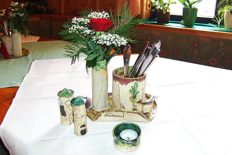 Besondere Tischdekorationen aus Keramik. Einzigartig und handgefertigt.